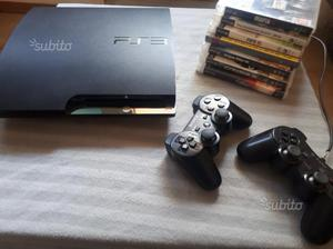 Ps3 Slim 120gb + 2 joypad + 7 giochi