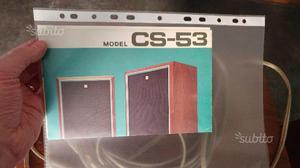 Coppia casse Pioneer CS53