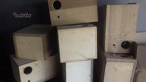 Nidi in legno per diamantini e pappagalli