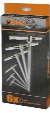 Serie di 6 chiavi a T con tre estremita ' maschio esagonale