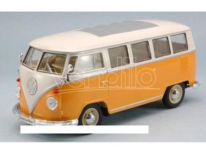 Welly WEOR VW T1 BUS  ORANGE/CREAM 1:24 Modellino