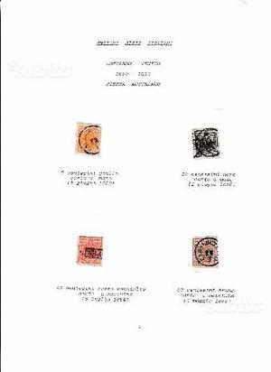 Antichi francobolli lombardo veneto