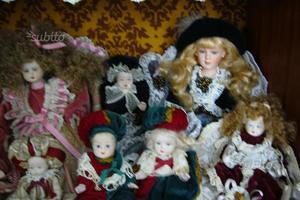 Serie bambole in ceramica capo di monte
