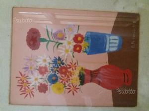 Dipinto blocco di n.4 olio su tela a firma Pesucci