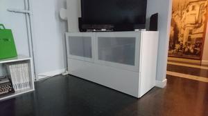 Anta besta tofta 60x64 bianco lucido posot class - Mobile porta tv bianco ikea ...