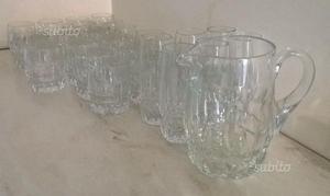 Servizio bicchieri cristallo vintage