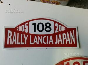 Targa del rally Lancia del Giappone Japan