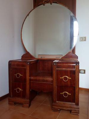 """vendesi specchiera con cassetti in legno anni """"60,"""