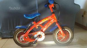 """Bici spider man bambino 12"""" con rotelle"""