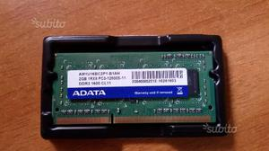 Ram sodimm 2gb  mhz ddr3 per laptop