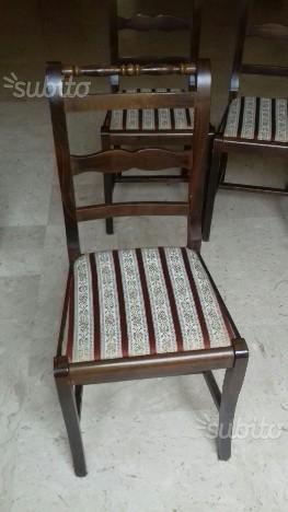 6 sedie in legno con imbottitura