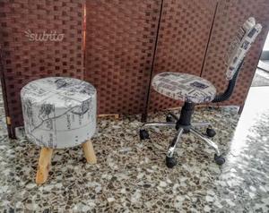 Sedia in legno per scrivania o salotto roma posot class for Sgabello per scrivania