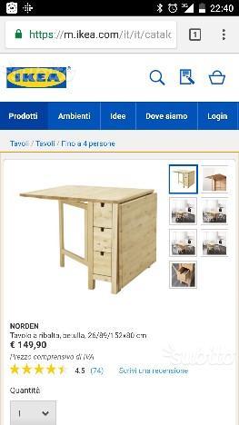 Tavolo Da Esterno Allungabile Ikea.Vendo Tavolo Giardino Ikea Applaro Posot Class
