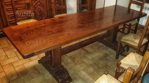Tavolo rettangolare in legno di olmo