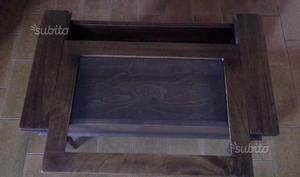 Tavolo tavolino in legno massello arte povera con