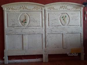Letto matrimoniale testiere antiche fine 800 posot class - Testiere letto legno ...