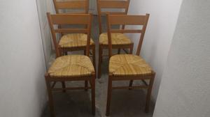 nr.4 sedie in paglia