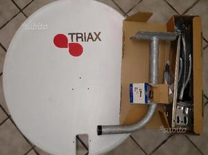 Kit Parabola Satellitare 80cm Staffa Ancoraggio
