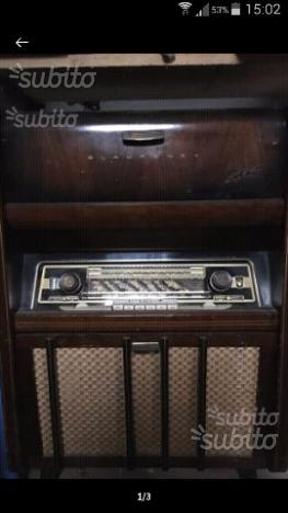 Radio giradischi anni 50 cassa tutto legno