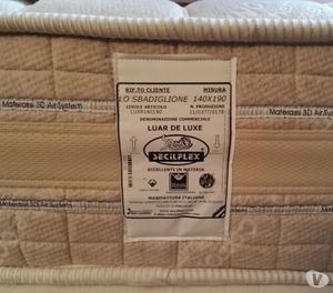 Materasso 140x190 posot class - Letto completo di rete e materasso ...
