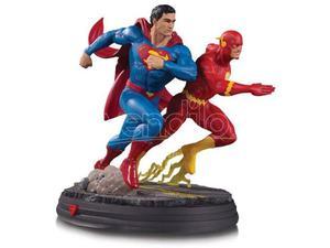 DC DIRECT DC GALLERY SUPERMAN VS FLASH RACING ST STATUA
