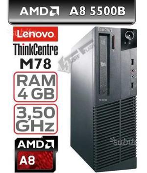 Lenovo m78-amd a8 (core i5) ram 4gb hd 250gb win10