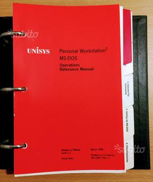 MS DOS 3.3 Unisys - Reference Manual