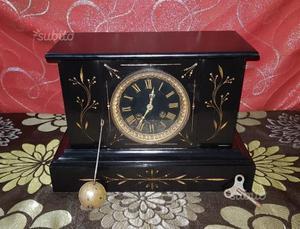 Antico orologio a pendolo in marmo epoca '800