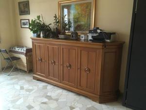 Mobile con ante per soggiorno o studio in legno massiccio