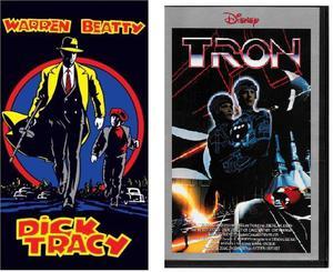 """Film Dick Tracy e Tron in videocassetta """"NUOVI"""""""