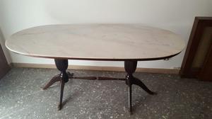 Tavolo calligaris in legno rovere chiaro ovale posot class for Tavolo rotondo legno chiaro