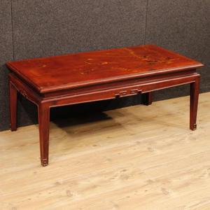 Tavolino francese laccato e dipinto a cineseria