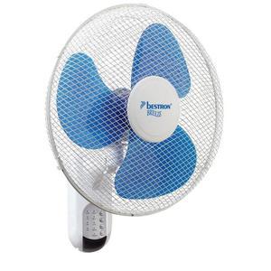 Bestron Ventilatore Parete con Telecomando 40 cm 45 W Bianco