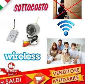 Kit telecamera wireless infrarossi 30 led videosor