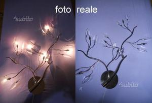 Lampadario luce lampada parete applique foglie