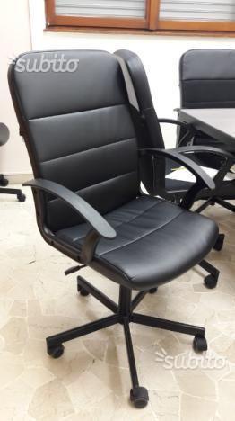 Sedia da ufficio / casa in pelle nera