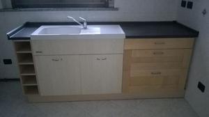 Cucina piano di lavoro con cassettoni posot class - Lavello e sottolavello cucina ...