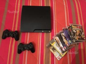 Play station 3, 2 telecomandi, 8 giochi