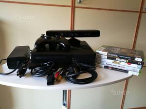 Xbox 360 slim + kinect + giochi