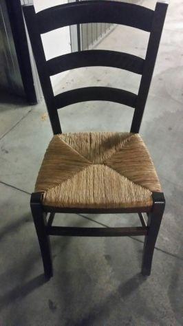 24 sedie in legno con seduta in paglia solo € 13 - tavoli