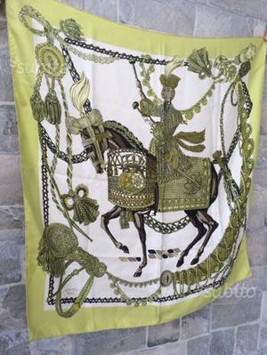 Foulard vintage Hermès seta