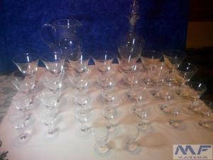 Servizio bicchieri cristallo Vintage anni '60