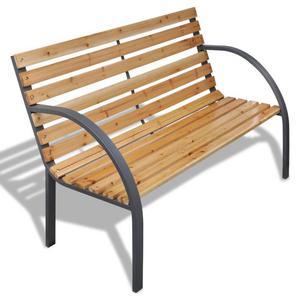 vidaXL Panchina da giardino con doghe legno e telaio di