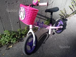 Bici btwin senza pedali rosa/viola