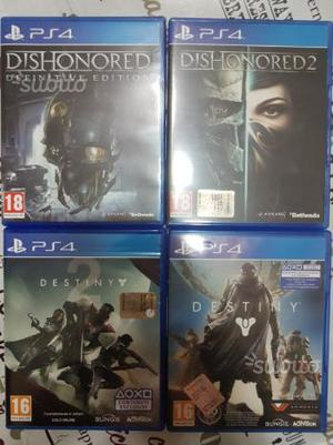 Destiny 1 e 2 Dishonored 1 e 2 PS4