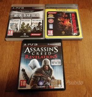Giochi PS3 - Metal Gear & Assassin's creed