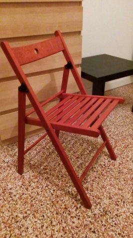 Sedie Da Regista In Legno Ikea.Sedia Pieghevole Legno Ciliegio Confezione 4 Pz Posot Class