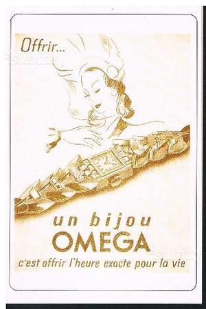 Cartoline pubblicità orologi Omega