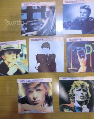 David Bowie 7 45 giri serie Lifetime Singles UK