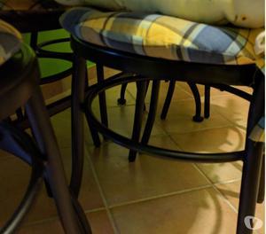 Tavolo Cucina in legno e Ferro battuto +6 sedie in Ferro bat